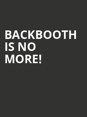 Backbooth is no more